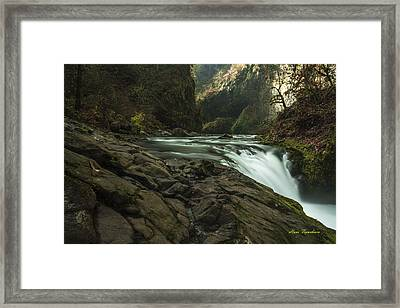 Over The Edge Signed Framed Print
