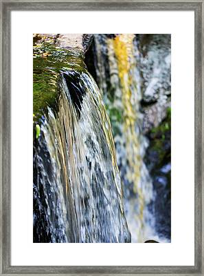 Over The Edge Visions Of Gold Framed Print