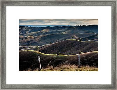 Over The Back Fence Framed Print by Az Jackson