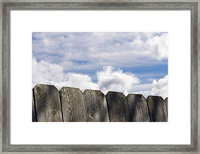 Over The Fence Framed Print by Rebecca Cozart