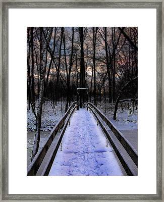 Over The Frozen River Framed Print by Scott Hovind