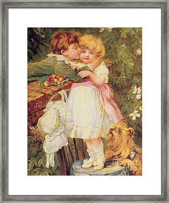 Over The Garden Wall Framed Print by Frederick Morgan