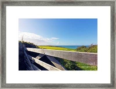 Over The Gate Framed Print by Terri Waters
