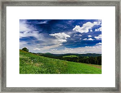 Framed Print featuring the photograph Over The Green Hills by Dmytro Korol