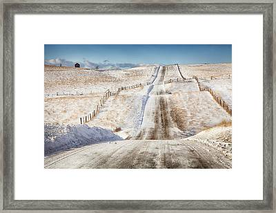 Over The Hill And Far Away Color Framed Print