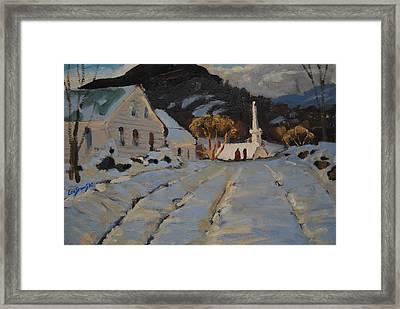 Over The Hill Framed Print by Len Stomski