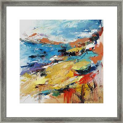 Over The Hills And Far Away Framed Print by Elise Palmigiani