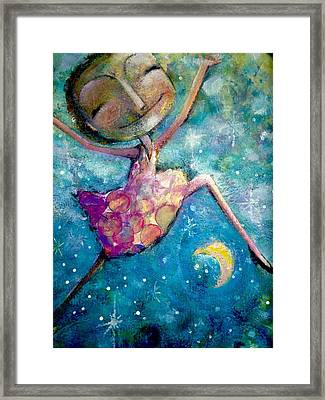 Over The Moon Framed Print