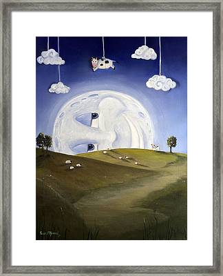 Over The Moon  Framed Print by Susan  Rossell