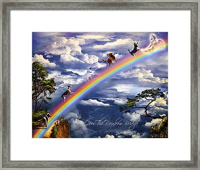 Over The Rainbow Bridge Framed Print