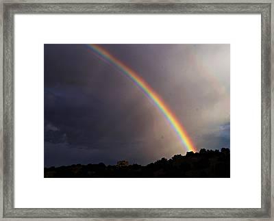 Framed Print featuring the photograph Over The Rainbow by Joseph Frank Baraba
