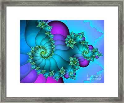 Over The Rainbow Framed Print by Jutta Maria Pusl