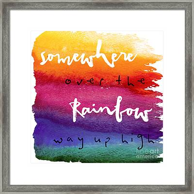 Over The Rainbow Framed Print by Mindy Sommers