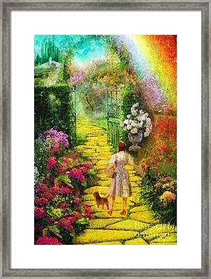 Over The Rainbow Framed Print by Mo T