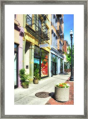Framed Print featuring the photograph Over The Rhine In Cincinnati # 5 by Mel Steinhauer