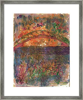 Over The River And Through The Woods Framed Print by Anne-Elizabeth Whiteway