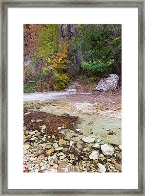 Lost Maples Over The River And Through The Woods Framed Print by Mike Brymer