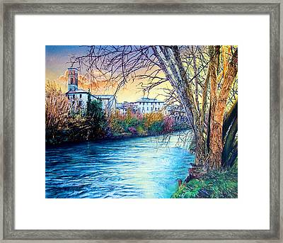 Over The River Framed Print