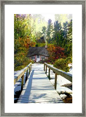Over The River Framed Print by Tom Romeo