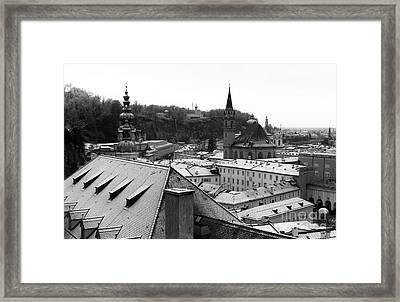 Over The Roof In Salzburg Framed Print by John Rizzuto