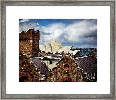 Framed Print featuring the photograph Over The Roof Tops by Perry Webster