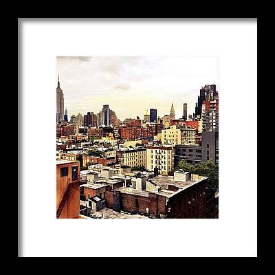 Nyc Skyline Framed Prints
