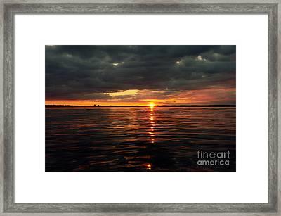 Over The Sea Level Framed Print