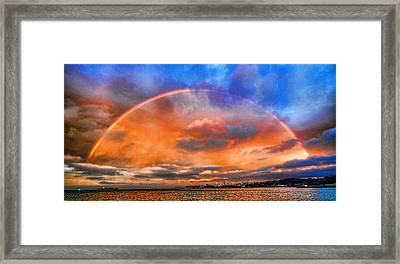 Over The Top Rainbow Framed Print