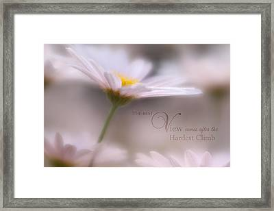 Over The Top With Message Framed Print