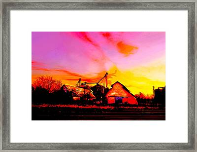 Over The Tracks --somewhere In Texas Framed Print