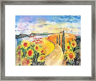 Over The Tuscan Hills Framed Print by Regina Ammerman