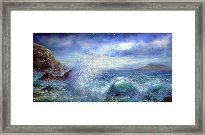 Over The Waves Framed Print by Ann Marie Bone
