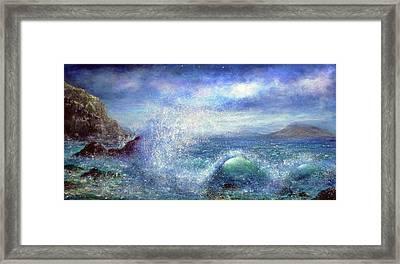 Over The Waves Framed Print by Ann Marie Bone