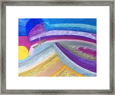Framed Print featuring the painting Over The Waves by Norma Duch