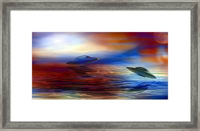 Over Water Framed Print by Evelyn Patrick