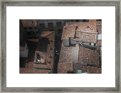 Over Where The Light Shines Framed Print by Chris Fletcher