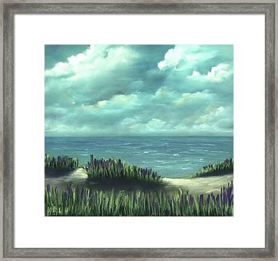 Framed Print featuring the painting Overcast by Anastasiya Malakhova