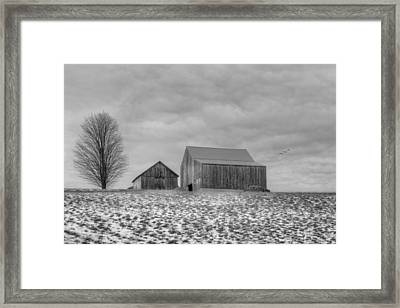 Overcast Bw Framed Print by Bill Wakeley