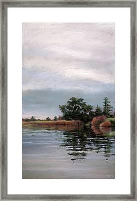 Overcast Island Framed Print by Christopher Reid