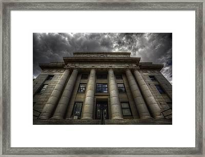 Overcast Justice Framed Print by Bob Larson