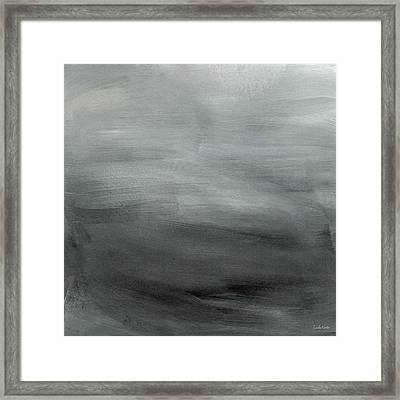 Overcast Morning- Abstract Art By Linda Woods Framed Print by Linda Woods