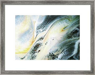 Overcast Sea Abstract Framed Print by Georgiana Romanovna