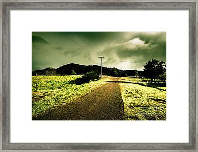 Overcast Storm Road Framed Print by Jorgo Photography - Wall Art Gallery
