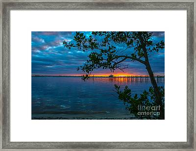 Overcast Sunrise Framed Print
