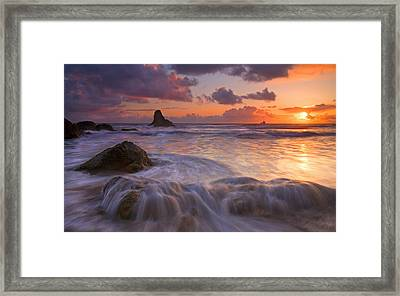 Overcome Framed Print by Mike  Dawson