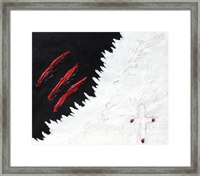 Overcoming The Darkness Framed Print