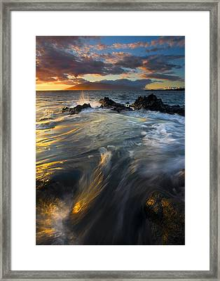 Overflow Framed Print by Mike  Dawson