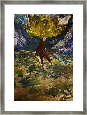 Framed Print featuring the painting Overflowing by Evelina Popilian