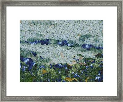 Overflowing River And Greenery Framed Print by Ashish Agarwal
