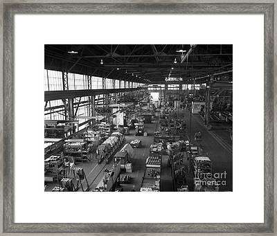 Overhead Of Compressor Assembly Line Framed Print by H. Armstrong Roberts/ClassicStock